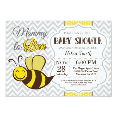 Bee Baby Shower Invitation Bumble Bee