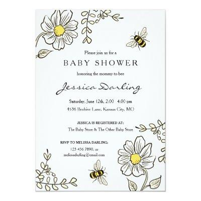 Bee  for Bumble Bee Shower