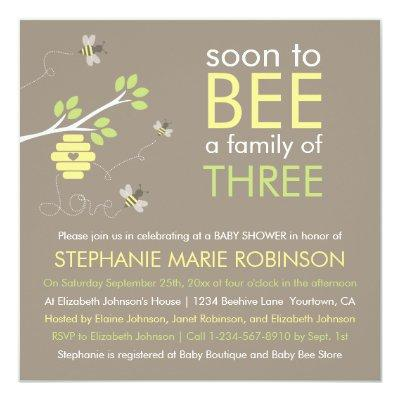 Bee Family Invitations