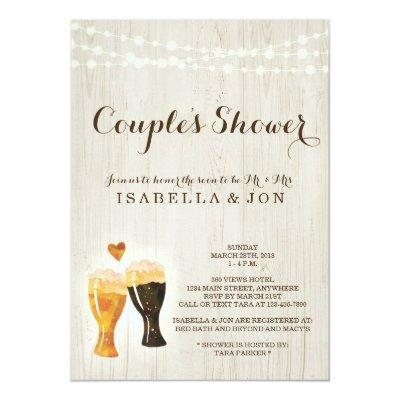 Beer Couple Shower Invitations Bridal Wedding Baby