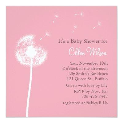 Best Wishes! Baby Shower Invitation (pink)