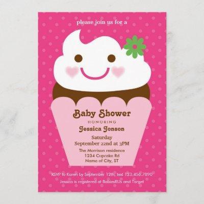 Big Cupcake Baby Shower Invitation