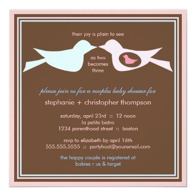 Mom And Baby Birds Baby Shower Invitations Baby Shower Invitations