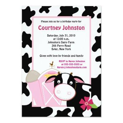 Cow Invitations Baby Shower Invitations – Cow Party Invitations