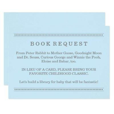 Blue Book Request | Baby Shower Enclosure Invitations