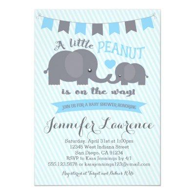 Blue Boy Peanut Elephant