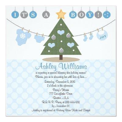 Blue Christmas Invitations