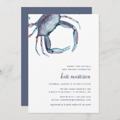Blue Crab Baby Shower Invitation