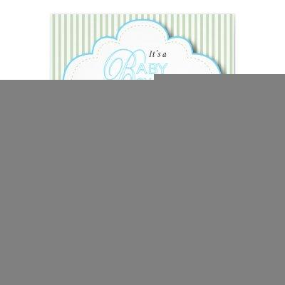 Blue & Mint Green Baby Buggy Shower Invitation
