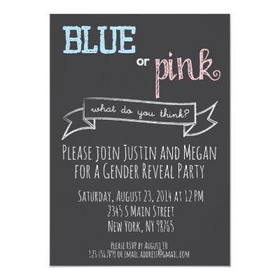 Blue or Pink Gender Reveal