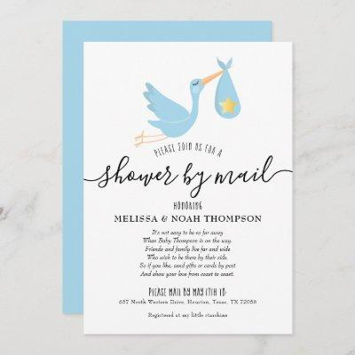 Blue Shower By Mail Long Distance Sprinkle Invitation