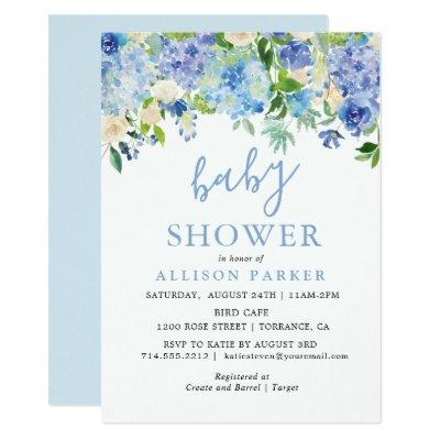 Blue Watercolor Hydrangea Brunch & Bubbly Cards