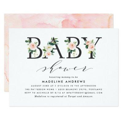 Blush Florals | Baby Shower Invitations