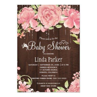 Blush pink rose peonies twinkle lights