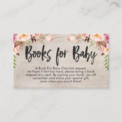 Boho Book request Card Insert Business Card Size