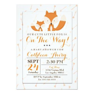 Boho Fox Baby Shower Invitations