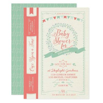 Book Baby Shower Invitations - Fairy Tale Invites