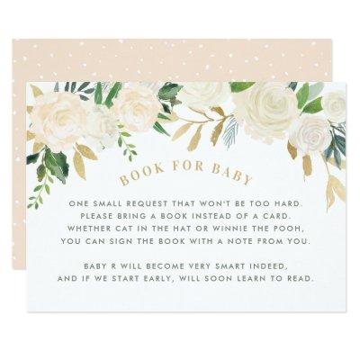 Book For Baby | Blush Baby Shower Request Card