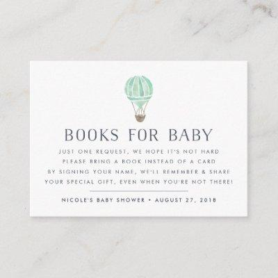 Book Request | Balloon Baby Shower Insert Card