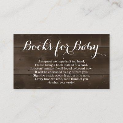 Book Request for Baby Shower Invitations - Rustic