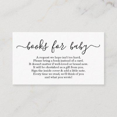 Book Request for Baby Shower Invitations - Simple