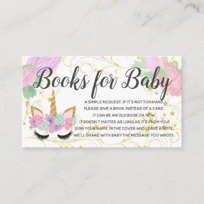 Book Request for Baby Unicorn Shower Invitations
