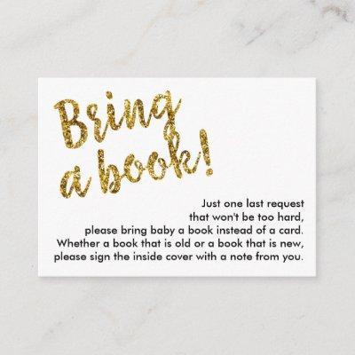 Book Request Insert Enclosure Card, Gold Glitter
