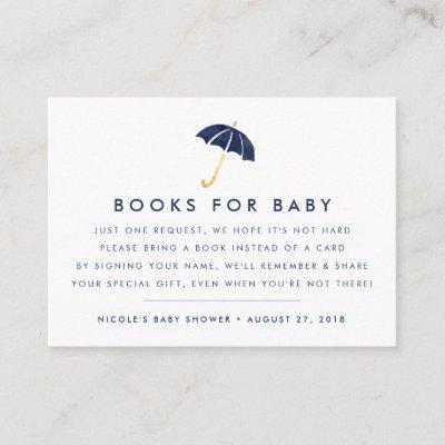 Book Request   Navy Baby Shower Insert Card