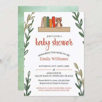Book Themed Baby Shower Invitation