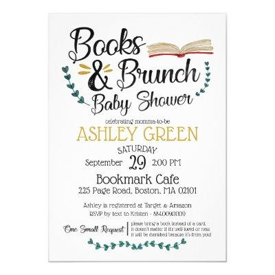 Books and Brunch Baby Shower Invitations
