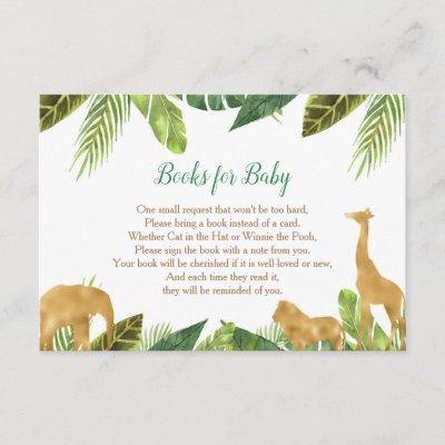 Books for baby, Safari book request inserts