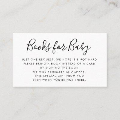 Books Request | Baby Shower Invitation Insert