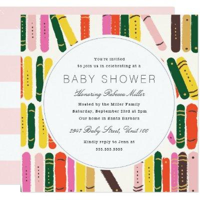 Bookworm Baby Shower Invitations