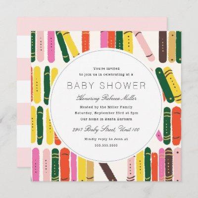 Bookworm Baby Shower Invitation