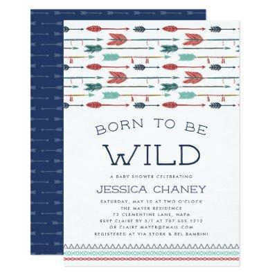 Born to Be Wild | Baby Shower Invitation