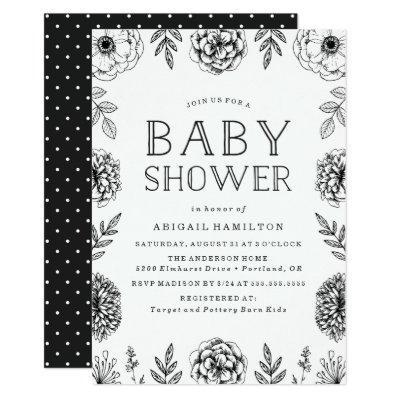 Botanical Garden | Baby Shower Invitation
