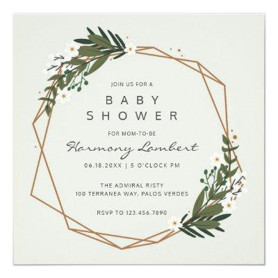 Botanical Greenery | Gender Neutral Baby Shower Invitation