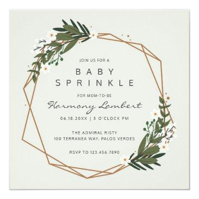 Botanical Greenery | Gender Neutral Baby Sprinkle Invitations