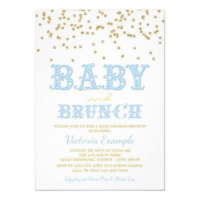 Baby Shower Brunch | Invitations · Boy Brunch Invitations