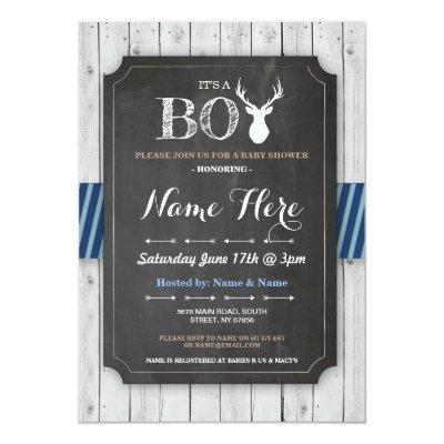 stag baby shower invitations baby shower invitations | baby shower, Baby shower invitations
