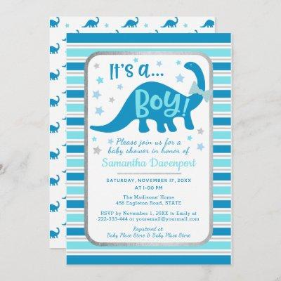 Boy Baby Shower Invitation Dinosaur