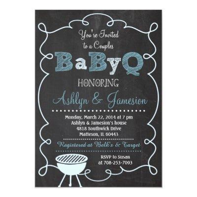 Boy Couples BabyQ BBQ Baby Shower Invitation