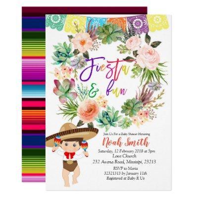 Boy Fiesta  Invitations