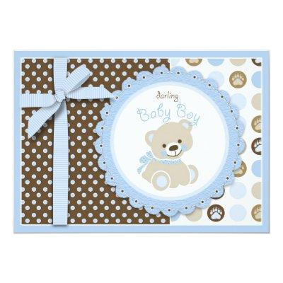 Teddy Bear Announcements Baby Shower Invitations Baby Shower