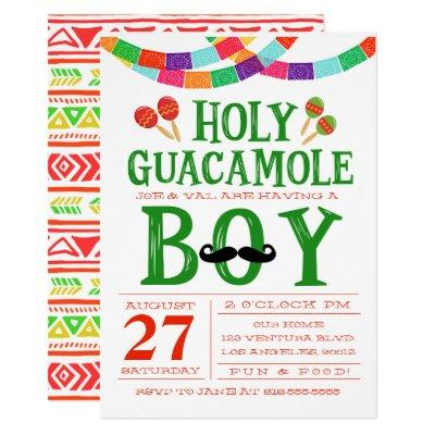 Boy's Baby Shower Fiesta Invitations
