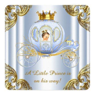 Boys Prince Royal Carriage Prince Baby Shower Invitations