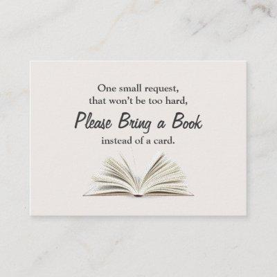 Bring a Book Baby Shower Book Request Insert