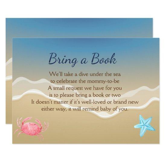 Bring a book baby shower card beach theme card baby shower bring a book baby shower card beach theme card filmwisefo