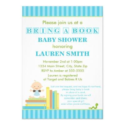 Bring A Book Baby Shower Invitations Card