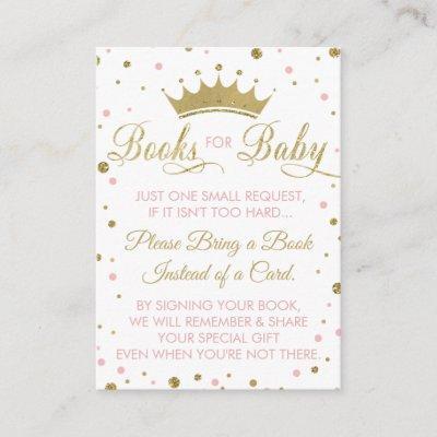Bring A Book Invitations, Princess, Baby Shower Enclosure Invitations